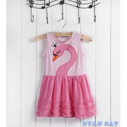 Cute Swan Pinky Dress