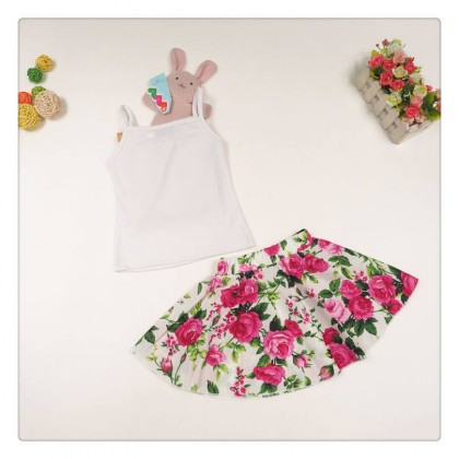 Girl Set Top+ FlowerSkirt SA4229
