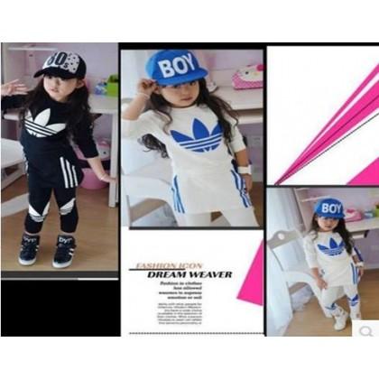 AD Girl Sweater+Trousers set SA4429-BLACK
