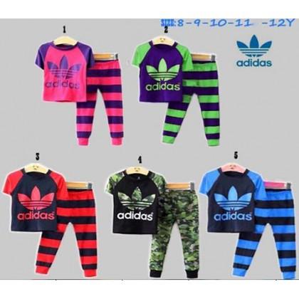 Adidas Pyjamas (short Sleeves)_No.5 Blue