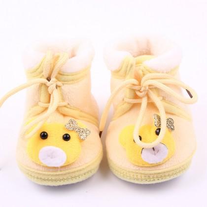 Baby velvet / fleece Toodler Shoes (CuteBear 4 color)