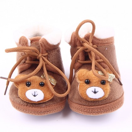 Baby velvet / fleece Toodler Shoes (CuteBear 4 color)