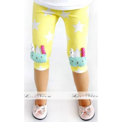 Girl Legging Yellow (3D Rabbit Pants)
