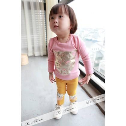 Girl Set Top + Pant-PINKY TIGER