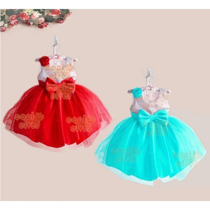 Elegance Flower Girl Dresses-RED/BLUE