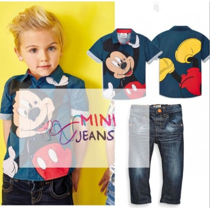 MINI JEANS Boy Set Mickey 2in1 M0337