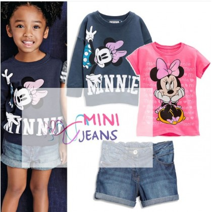 MINI JEANS Girl Set Minnie 3in1 M0343
