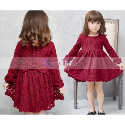 KOREA PINK Dress K0397 Maroon