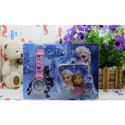 KIDS Watch & Coin Purse Frozen Elsa/Anna 1