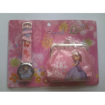 KIDS Watch & Coin Purse Sofia The First