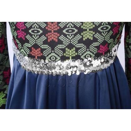Songket Jubah Dress - Purple (Story) SIZE 2-7Y
