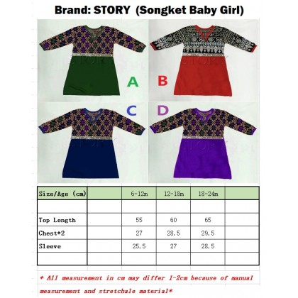Songket Baby Girl Jubah (Story)