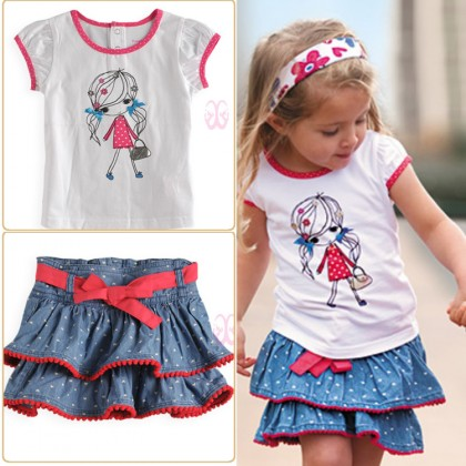 Girl set (skirt+Top) *factory defect
