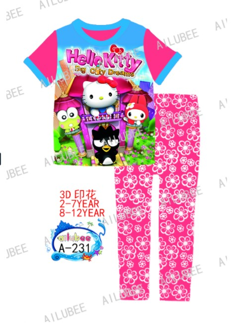 Hello Kitty Ailubee Pyjamas (A-231) 2-7y