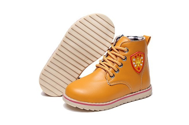 Boy/Girl Korean Martin Boots Shoes (Yellow & Blue)