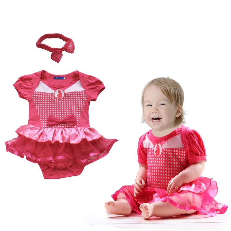 >RM15 CORNER< Baby Girl Romper Dress + Headband