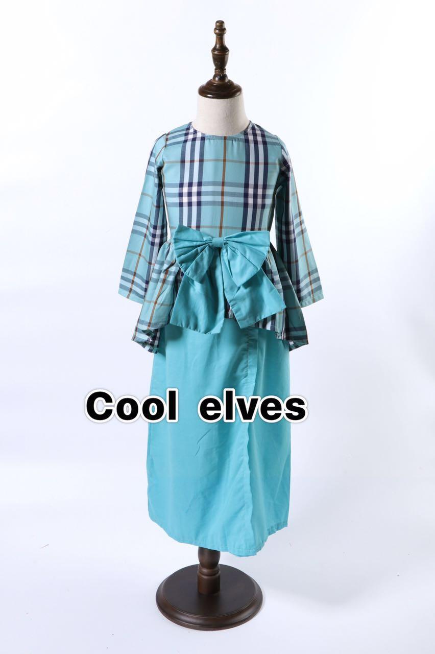 Ready Stock Burberry Inspired Baju Kurung Cool Elves