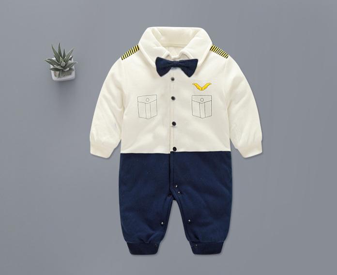d58c6be2f READY STOCK  Baby Boy Mr Pilot Romper Long sleeves