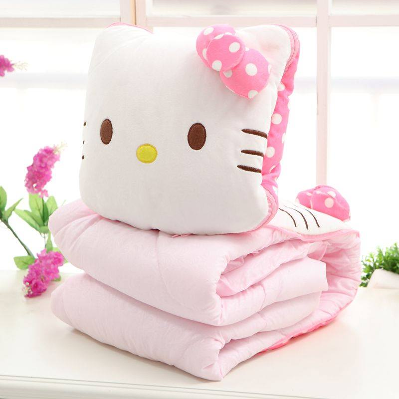 Hello Kitty Pillow And Throw Blanket Set : READY STOCK Hello Kitty Blanket Pillow 11street Malaysia - Comforters, Blankets & Throws