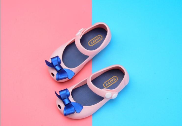 Kids Cartoon Jelly Shoes Sandal -Cute BowKnot